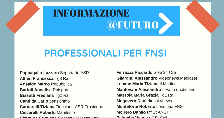Lista candidati informazione futuro FNSI